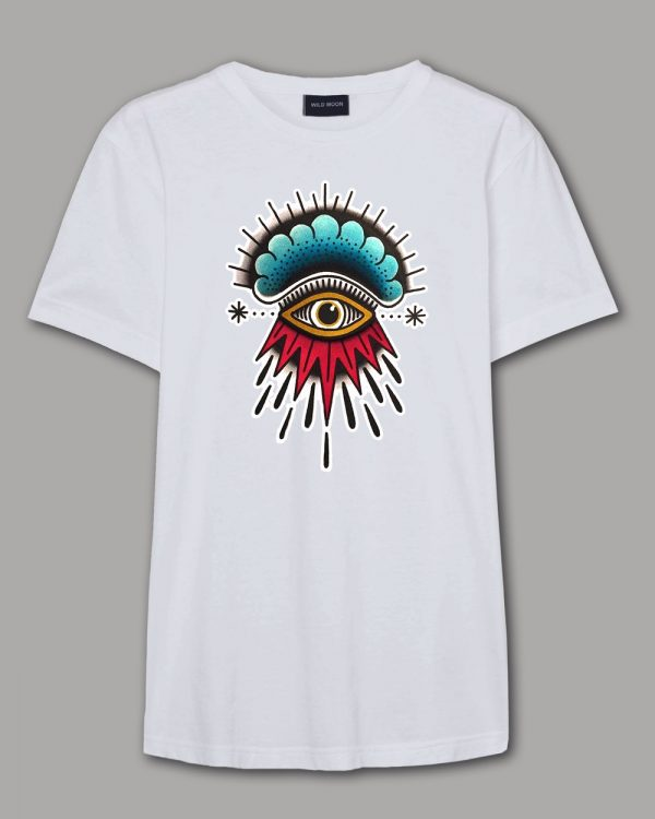 Men S And Women Colorful Freestyle Graphic Eye Design T Shirt